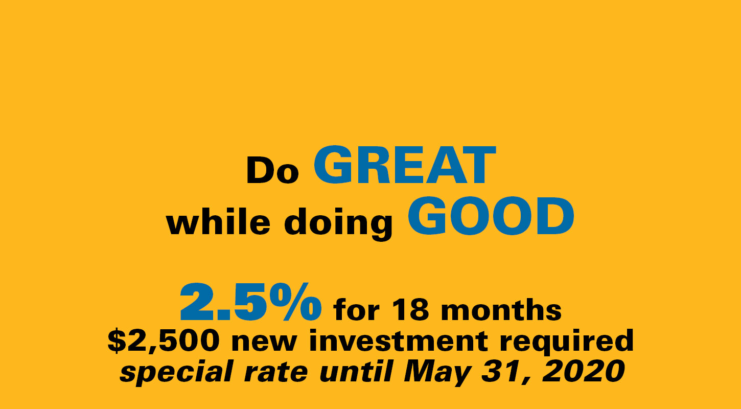 2.5% for 18 months special investment rate