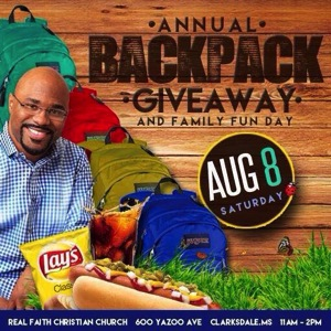 annuale Backpack Giveaway Poster